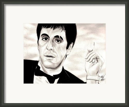 Scarface Framed Print By Michael Mestas