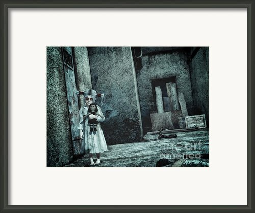 Scary Place Framed Print By Jutta Maria Pusl