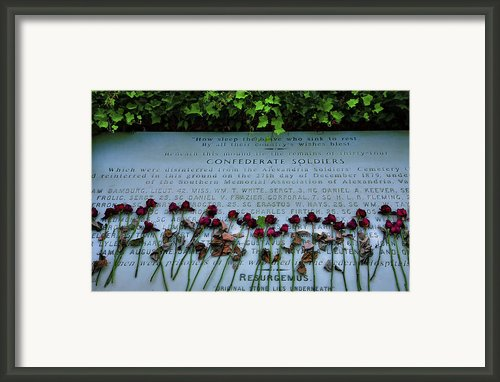 Scatter Roses On My Grave Framed Print By Steven Ainsworth