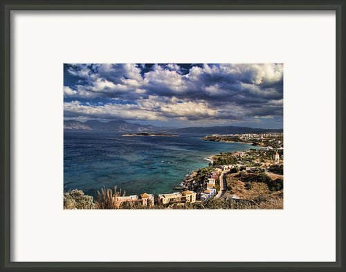 Scenic View Of Eastern Crete Framed Print By David Smith