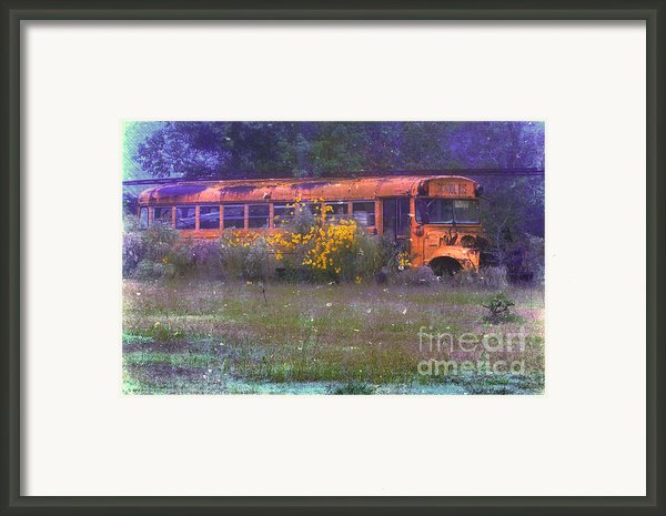 School Bus Out To Pasture Framed Print By Judi Bagwell