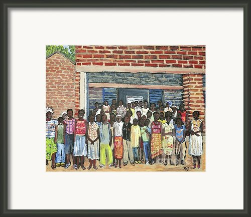 School Class Burkina Faso Series Framed Print By Reb Frost