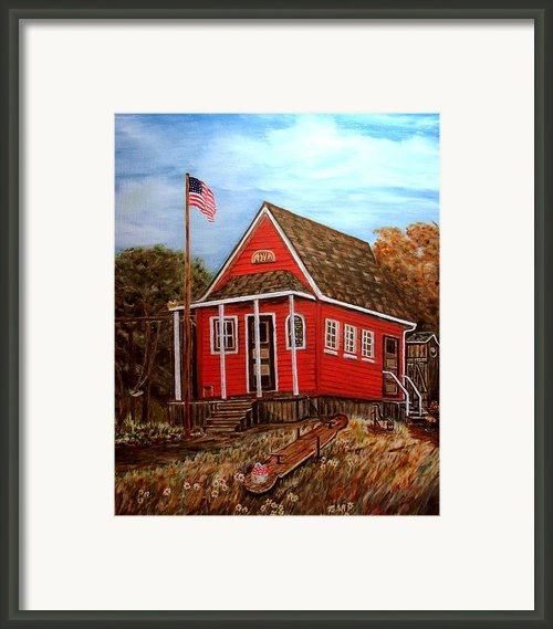 School House Framed Print By Kenneth  Lepoidevin