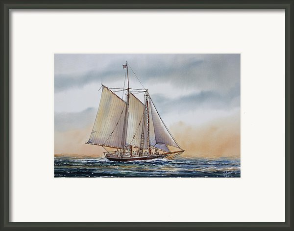 Schooner Stephen Taber Framed Print By James Williamson