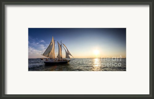 Schooner Welcome Sunset Charleston Sc Framed Print By Dustin K Ryan