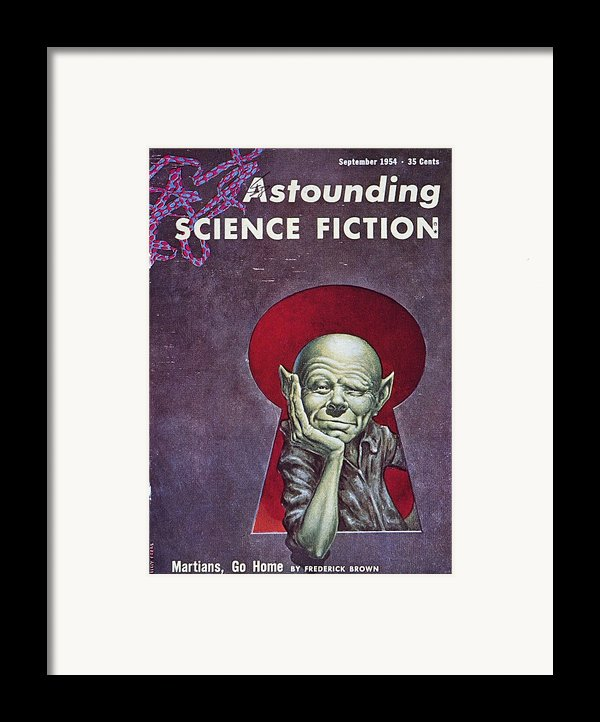 Science Fiction Cover, 1954 Framed Print By Granger