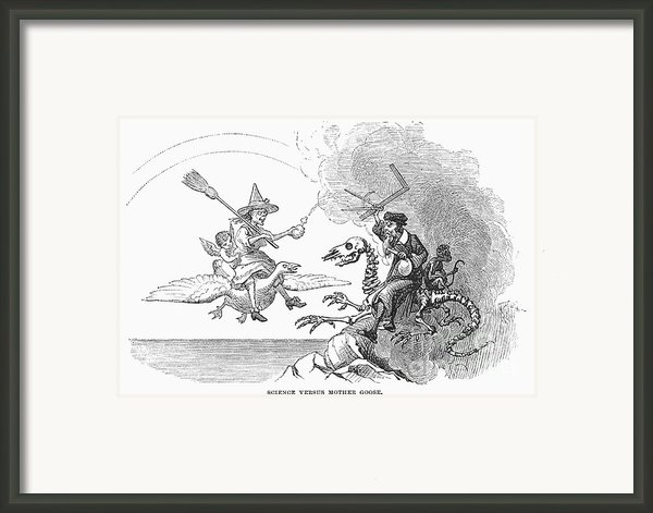 Science Vs. Mother Goose Framed Print By Granger