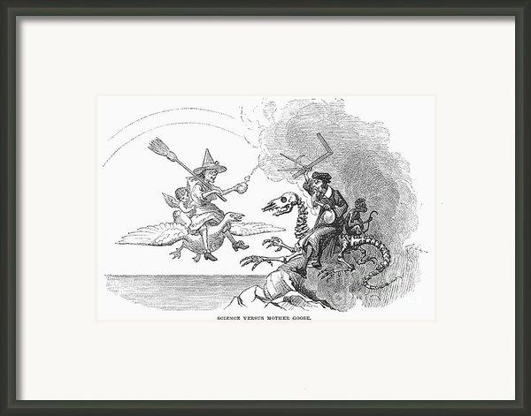 Science Vs. Mother Goose Framed Print By Granger