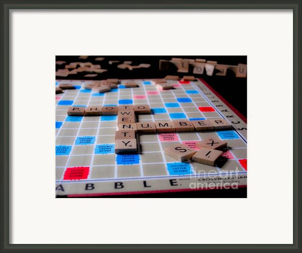 Scrabble Framed Print By Valerie Morrison
