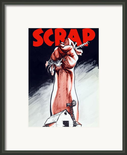 Scrap Framed Print By War Is Hell Store