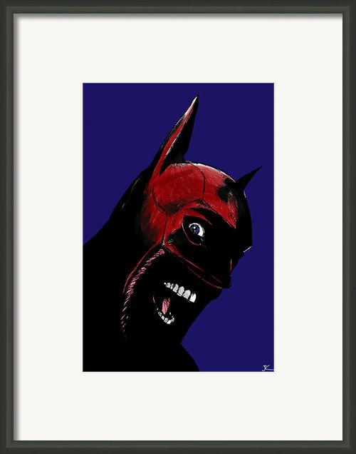 Screaming Superhero Framed Print By Giuseppe Cristiano