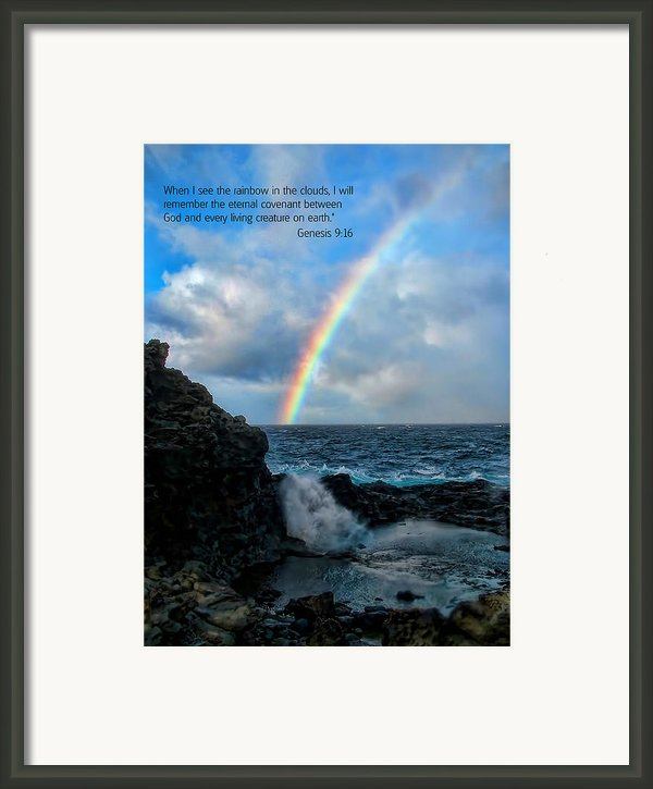 Scripture And Picture Genesis 9 16 Framed Print By Ken Smith