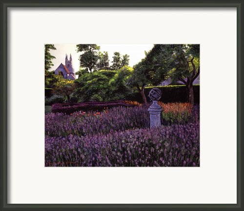 Sculpture Garden Framed Print By David Lloyd Glover