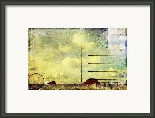Sea And Cloud Postcard Framed Print By Setsiri Silapasuwanchai