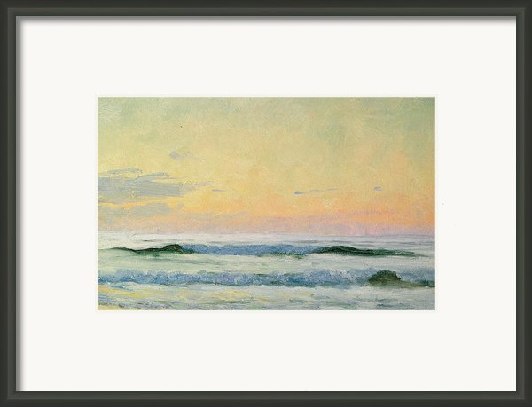 Sea Study Framed Print By As Stokes