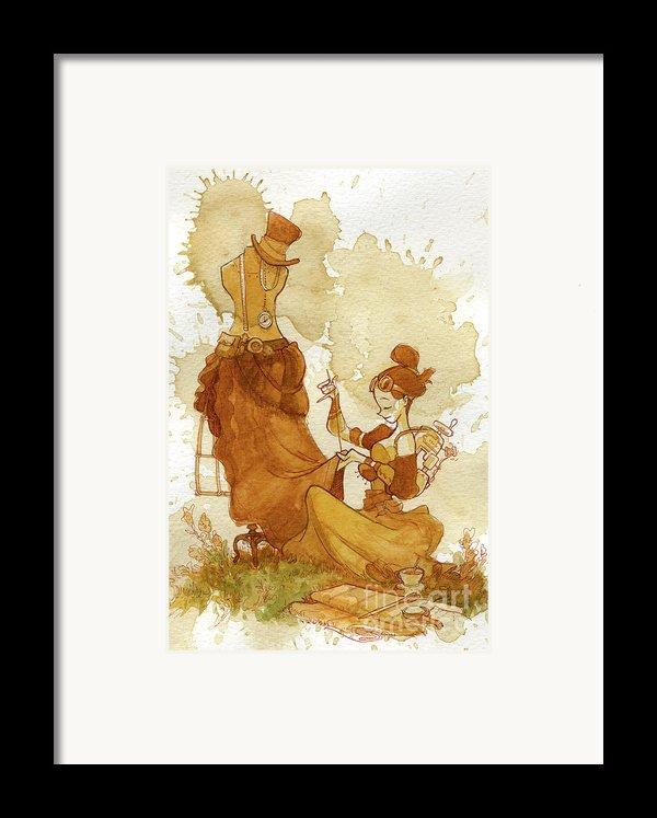 Seamstress Framed Print By Brian Kesinger