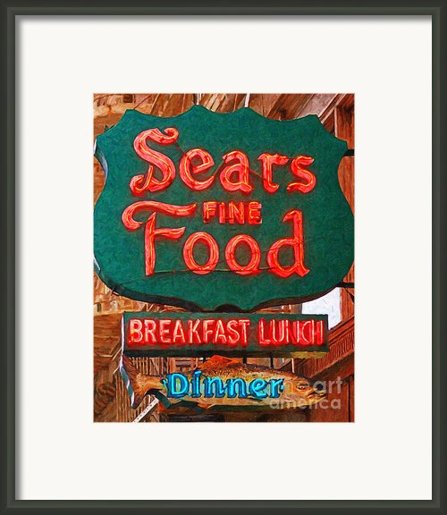 Sears Fine Food Restaurant San Francisco Framed Print By Wingsdomain Art And Photography