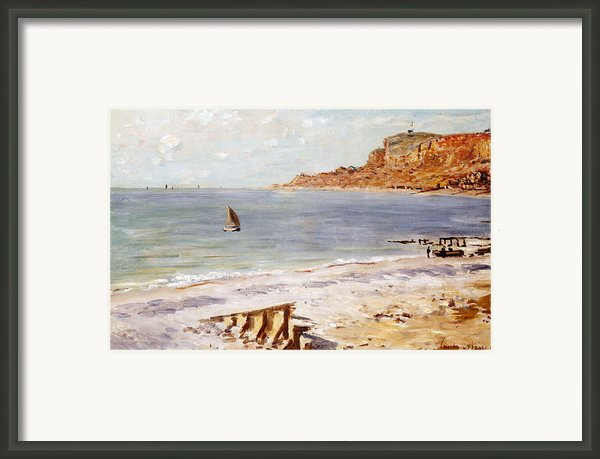 Seascape At Sainte Adresse  Framed Print By Claude Monet