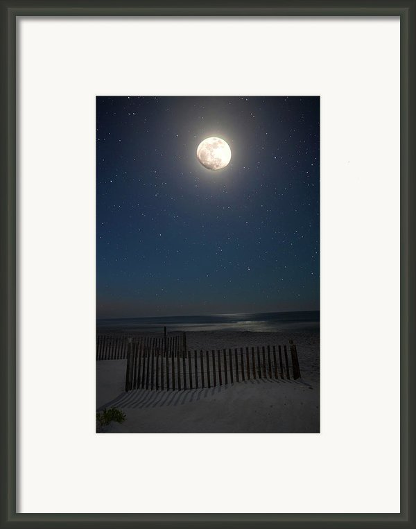 Seaside Moonset Framed Print By Charles Warren