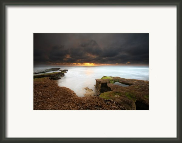 Seaside Reef Sunset 11 Framed Print By Larry Marshall