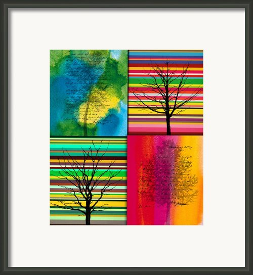 Seasons Framed Print By Ramneek Narang