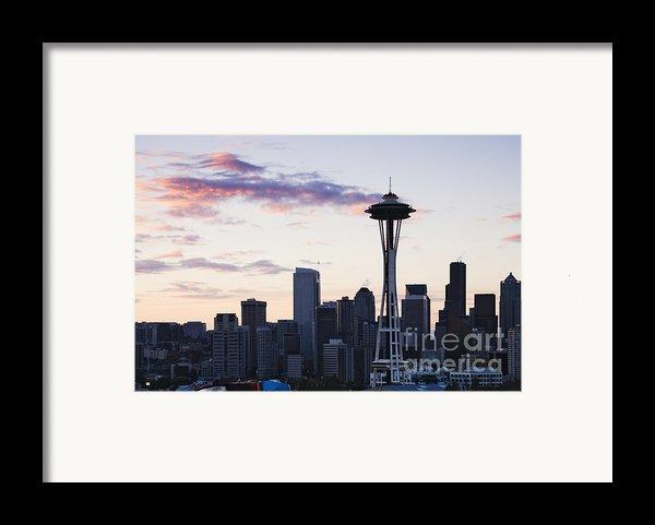 Seattle Skyline At Dusk Framed Print By Jeremy Woodhouse