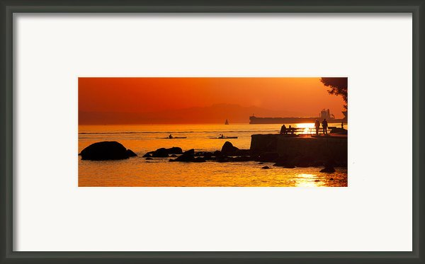 Seawall Silhouette Framed Print By Matt  Trimble