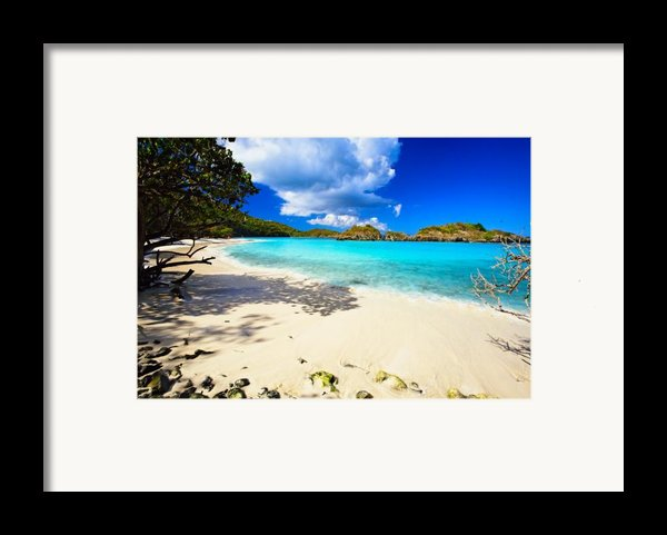 Secluded  Beach Framed Print By George Oze