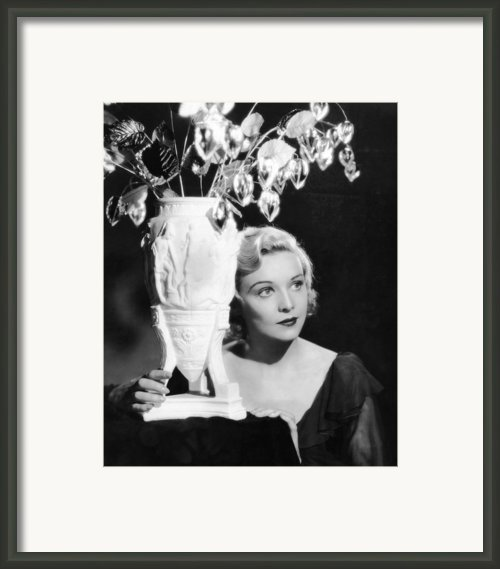 Secret Agent, Madeleine Carroll, 1936 Framed Print By Everett