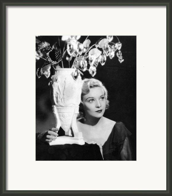 Secret Agent, Madeleine Carroll, 1936 Framed Print By Everett