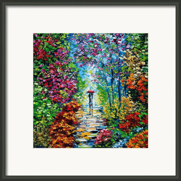 Secret Garden Oil Painting - B. Sasik Framed Print By Beata Sasik