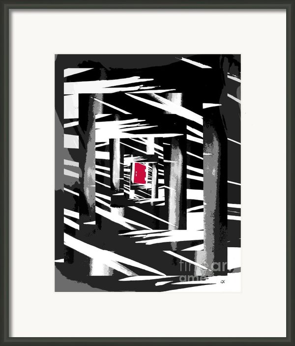 Secret Red Door Framed Print By Gerlinde Keating - Keating Associates Inc