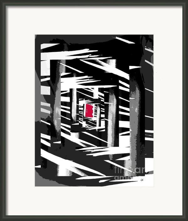 Secret Red Door Framed Print By Gerlinde Keating - Keating Associates Inc