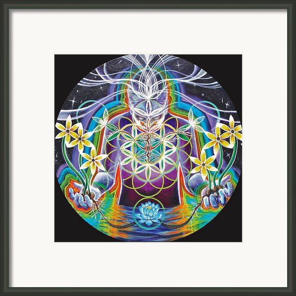 Seeds Of Life Within Framed Print By Morgan  Mandala Manley