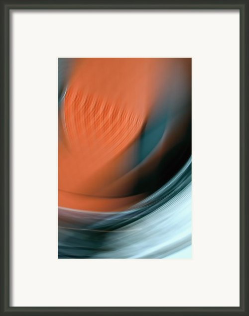 Seen - Abstract Art Framed Print By Laria Saunders