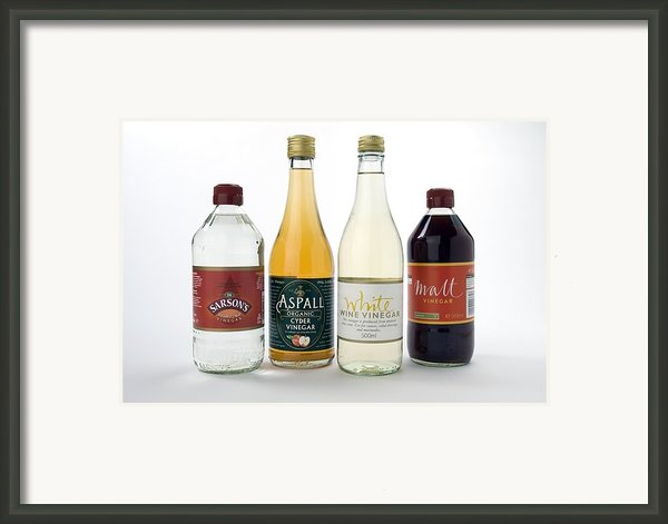Selection Of Vinegars Framed Print By Trevor Clifford Photography