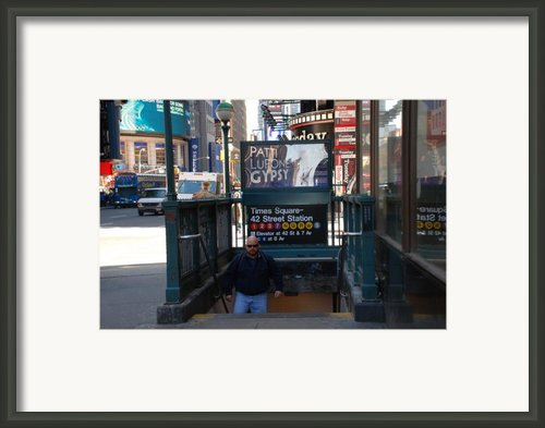Self At Subway Stairs Framed Print By Rob Hans