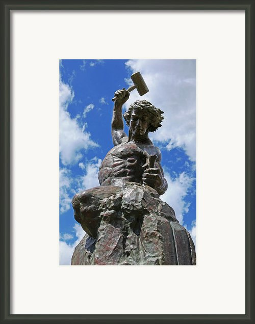 Self Made Man Lighter Version Framed Print By Sheila Kay Mcintyre