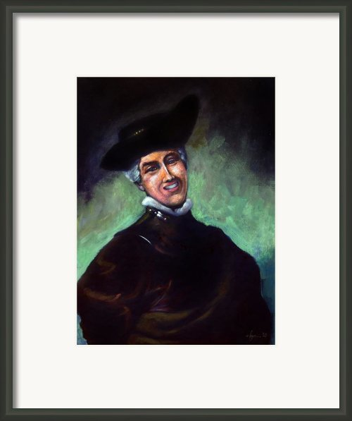 Self Portrait A La Rembrandt Framed Print By Angela Treat Lyon