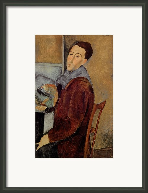 Self Portrait Framed Print By Amedeo Modigliani