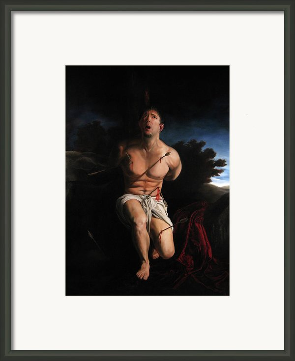 Self Portrait As St. Sebastian Framed Print By Eric  Armusik