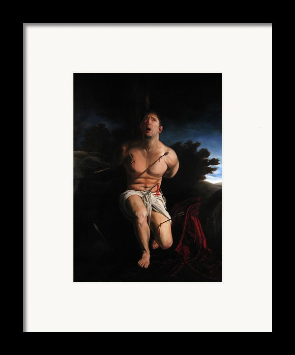 Self Portrait As St. Sebastian Framed Print By Eric  Armusik