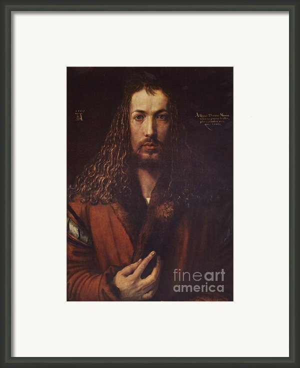 Self Portrait  Durer Framed Print By Pg Reproductions