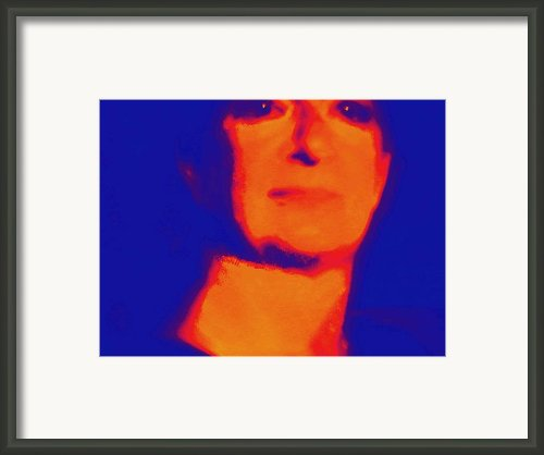 Self Portrait On Fire For The Future Framed Print By Carolina Liechtenstein
