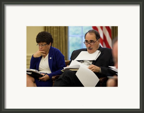 Senior Advisors Valerie Jarrett Framed Print By Everett