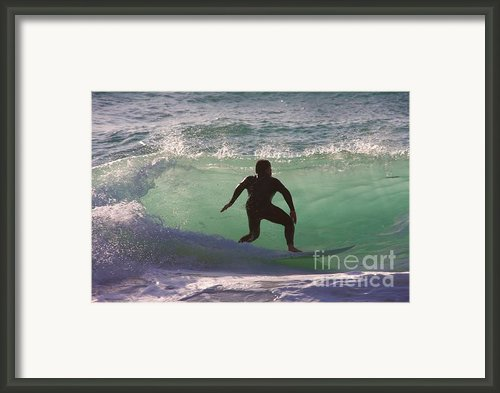 Sennen Cove Surf Framed Print By Ed Lukas