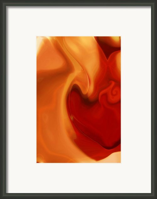 Sensual Love Framed Print By Linda Sannuti
