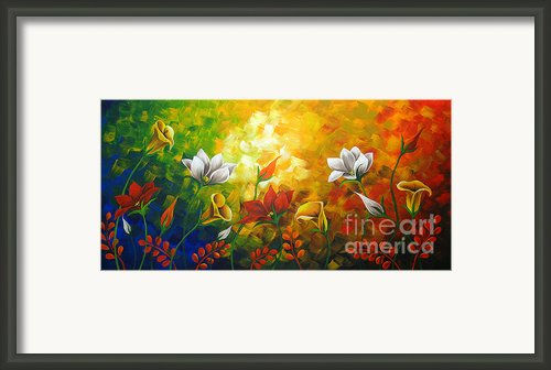 Sentient Flowers Framed Print By Uma Devi