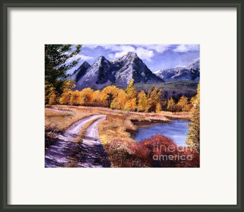 September High Country Framed Print By David Lloyd Glover