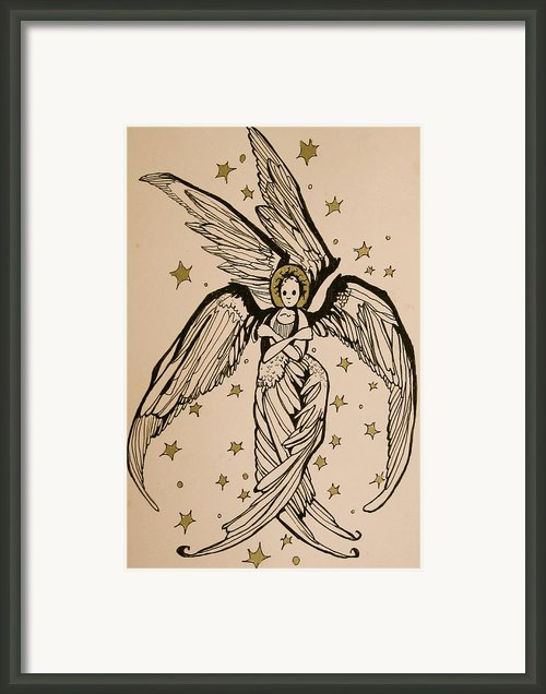 Seraphim Framed Print By Jackie Rock